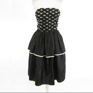 Sweet Talk black strapless dress S